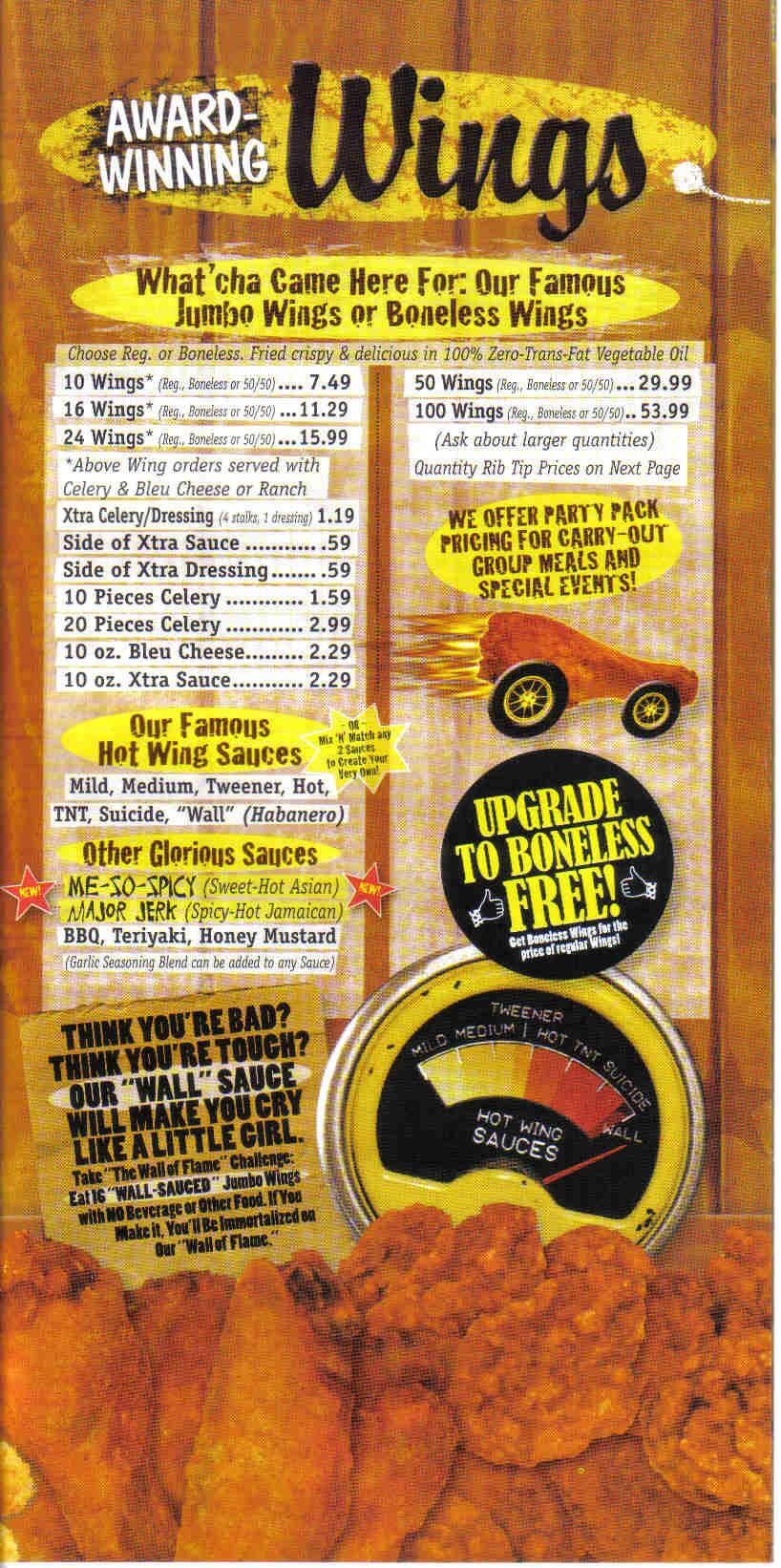 Wings Etc   Elkhart  In Menu  Hours  Details